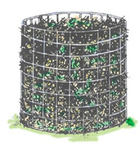 Composting - Wire Mesh Holding Bin